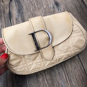 Dior Bags - Christian DIOR Cream Makeup Purse Bag